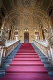 Luxury entrance. Red carpet for this Italian old palace entrance Stock Photos
