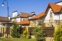 Luxury estate houses Stock Photography