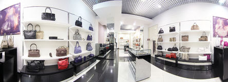 Luxury european bag store Royalty Free Stock Photos