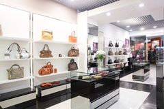 Luxury european bag store Royalty Free Stock Photo