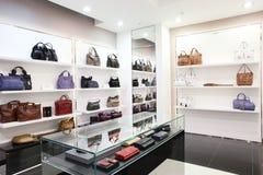 Luxury european bag store Royalty Free Stock Images
