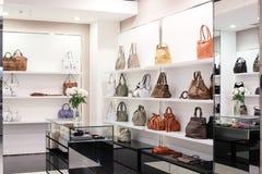 Luxury european bag store Stock Photography