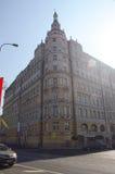 Luxury European hotel Baltschug Kempinski Traffic Moscow Russia Royalty Free Stock Photography
