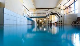 Luxury European indoor spa swimming pool royalty free stock photo