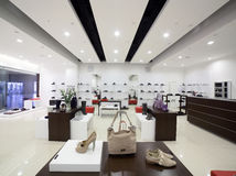 Luxury european shoes store Stock Photography