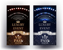 Luxury event elegant vertical Vip Passes Stock Photo