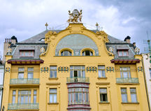 Luxury example of Art-nouveau architecture in Prague Stock Image