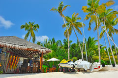 Luxury Exotic Beach and sport center Royalty Free Stock Photo