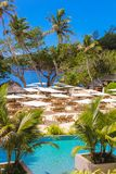 Luxury exotic hotel in the Seychelles Royalty Free Stock Images