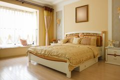 The luxury expensive bedroom interior Royalty Free Stock Image