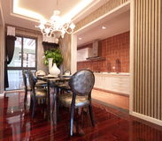 Luxury expensive dining room Royalty Free Stock Photos