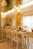 The luxury expensive dining room interior Royalty Free Stock Photos