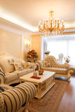 Luxury expensive living room interior. There is luxury expensive living room interior Royalty Free Stock Photo