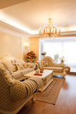 Luxury expensive living room interior Stock Images