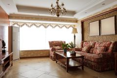 Luxury expensive living room interior. The luxury expensive living room interior Royalty Free Stock Photography