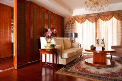 The luxury expensive living room interior Stock Images