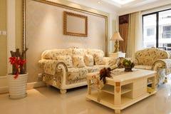 The luxury expensive livingroom interior Stock Photos