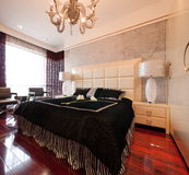 Luxury expensive modern bedroom Royalty Free Stock Images