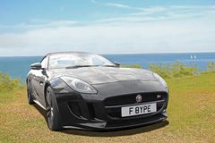 Luxury f type jaguar Royalty Free Stock Image