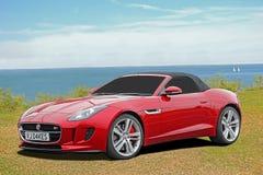 Luxury f-type jaguar sports car Stock Photo