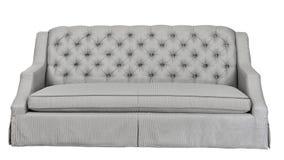Cloth sofa on white background stock photo