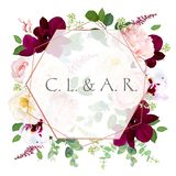 Luxury fall flowers vector design card royalty free illustration