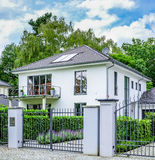 Luxury family house. With garade stock image