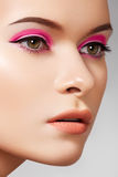 Luxury fashion cosmetics and bright beauty make-up Stock Images