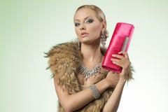 Luxury fashion girl Stock Image