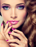 Luxury Fashion Style, Nails Manicure, Cosmetics And Make-up. Royalty Free Stock Photography