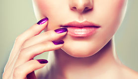 Luxury fashion style, nails manicure, cosmetics ,make-up Royalty Free Stock Image