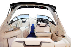 Luxury fast boat interior Stock Photos