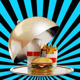 Luxury fast food meal Stock Image