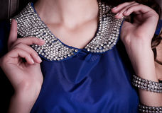 Luxury female collar with gems Stock Photography