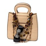 Luxury female handbag isolated on white background Royalty Free Stock Photo