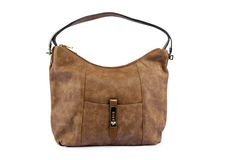 Luxury female leather bag Royalty Free Stock Images