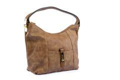 Luxury female leather bag Stock Images