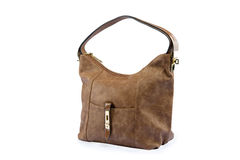 Luxury female leather bag Royalty Free Stock Photos