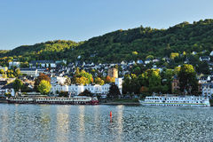 Luxury ferry on Mosel river Royalty Free Stock Photography