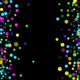 Luxury festive background. Colored confetti-points are scattered on a black background. Luxury festive background. Multicolored shiny abstract texture. Element Royalty Free Stock Photos