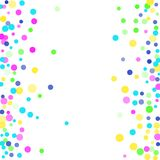 Luxury festive background. Colored confetti-points are scattered on a white background. Luxury festive background. Multicolored shiny abstract texture. Element Royalty Free Stock Photo