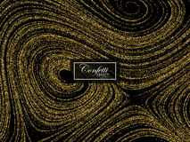 Luxury festive background with shiny golden glitters. Royalty Free Stock Image