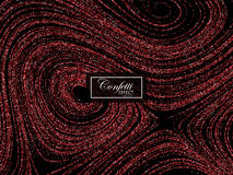 Luxury festive background with shiny red glitters. Stock Photography