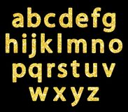 Luxury festive Golden glitter sparkling alphabet letters. Ideal for sale, shop, present, gift, header, wedding, holiday, voucher, sparkle design etc Stock Images