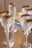 Luxury fine glasses Stock Image