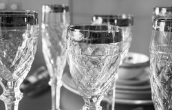 Luxury fine glasses Royalty Free Stock Images
