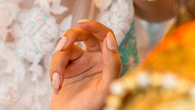 Luxury fingernails Royalty Free Stock Photography