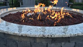Luxury fire pit royalty free stock photos