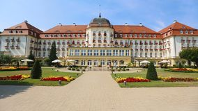 Luxury five-star grand hotel in Sopot, accommodation for rich tourists in Poland. Stock footage stock video