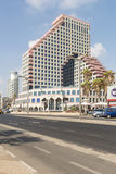 Luxury five-star hotel in the resort area of Tel Aviv Royalty Free Stock Photo